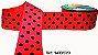 Fita Decorativa com Poá n°9 SINIMBU - C23 Rosa Pink c/ Preto - Imagem 1