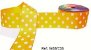Fita Decorativa com Poá n°9 SINIMBU - C33 Amarelo c/ Branco - Imagem 1