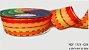 Fita Decorativa Listrada n°9(38mm) SINIMBU - C06 Laranja/Amarelo/Vinho - Imagem 1