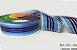 Fita Decorativa Organza Listrada n°9(38mm) SINIMBU - C03 Tons de Azul - Imagem 1