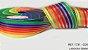 Fita Decorativa Organza Listrada n°9(38mm) SINIMBU - C04 Arco Íris Escuro - Imagem 1