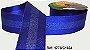 Fita Decorada Gorgurão com Cetim 38mm Sinimbu - 1654 Azul Royal - Imagem 1