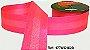 Fita Decorada Gorgurão com Cetim 38mm Sinimbu - 1828 Rosa Fluorescente - Imagem 1