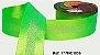 Fita Decorada Gorgurão com Cetim 38mm Sinimbu - 1830 Verde Fluorescente - Imagem 1