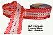 Fita Decorativa Listrada com Brilho (38mm) - C03 Tons Rosa - Imagem 1