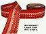 Fita Decorativa Listrada com Brilho (38mm) - C07 Tons Vermelho - Imagem 1
