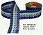 Fita Decorativa Listrada com Brilho (38mm) - C08 Tons Azul - Imagem 1