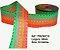 Fita Decorativa Listrada com Brilho (38mm) - C10 Tons Neon - Imagem 1