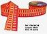 Fita Decorativa Retangular (38mm) - C06 Tons Laranja com Vermelho - Imagem 1