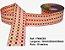 Fita Xadrez Sinimbu n°9 (38mm) - 05 Laranja/Vermelho/Amarelo - Imagem 1