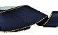 Fita de Gorgurão Borda Dourada Azul Marinho - Imagem 1