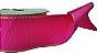 Fita de Gorgurão Borda Dourada Pink - Imagem 1