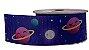 Fita de Gorgurão Galáxia Fundo Azul 210 - Imagem 1
