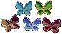 Aplique Borboletas Espelhadas - Pacote c/ 5 unidades - Imagem 1