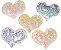Aplique Coração Lantejoula Brilhosa - Pacote c/ 5 unidades - Imagem 1