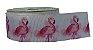 Fita de Gorgurão Flamingo Rosa Fundo Branco 1374 - Imagem 1