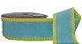 Fita Gorgurão Pesponto Azul Frozen com Amarelo 04 - Imagem 1