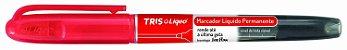 Marcador líquido permanente - vermelho - liqeo - Tris - Imagem 1