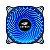COOLER GABINETE 12CM C3TECH STORM SERIE F7-L130BL LED AZUL - Imagem 1