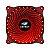 COOLER GABINETE 12CM C3TECH STORM SERIE F7-L130RD LED VERMELHO - Imagem 1