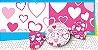 Trufa coração rosa 15 x 16 cm - Pct 100 unidades - Imagem 1