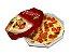 PZ2 + PZ1 -50 unid - Embalagem para pizza com base branca - Imagem 1