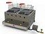 Fritadeira Profissional a Gás Progás Inox 2 Cuba 10 Litros PR-20G - Imagem 1
