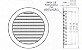 Grade de Ventilação Redonda Branca 200 mm - Imagem 3