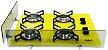 Fogão Cooktop 4 Bocas Askoi Amarelo Com 1 Protetor Frontal e 1 lateral - Imagem 1