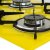 Fogão Cooktop 5 Bocas Askoi Amarelo Com 1 Protetor Frontal e 1 lateral - Imagem 3