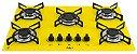 Fogão Cooktop 5 Bocas Amarelo Com 1 Protetor Frontal e 2 laterais - Imagem 2