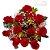 Buque 12 Rosas vermelhas embaladas sofisticadamente - Imagem 1