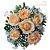 Buquê com 6 Rosas Champanhe - Imagem 1