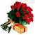 Buquê de 12 Rosas Vermelhas com uma Caixa de Bombons - Imagem 1