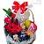 Cesta Café da Manhã Luxo com Flores Nobres - Imagem 1