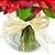 Rosas e Astromélia Vermelhas no Vaso de Vidro - Imagem 3