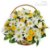 Cesta de Margaridas e Rosas Amarelas - Imagem 1