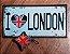 Placa de Metal Decorativa I Love London - Imagem 2