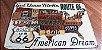 Placa de Metal Route 66 - Get Your Kicks - Imagem 1