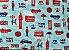 Almofada temática Londres 45x45cm - Imagem 3
