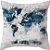 Capa de almofada Mapa Múndi Continentes - Imagem 1