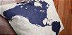 Capa de almofada Mapa Múndi Azul - Imagem 3