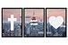 Conjunto de quadros com relógio (4 modelos) - Imagem 1