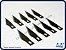Lâminas para estilete tipo bisturi (10 un.) - Imagem 1