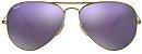 Óculos de Sol Ray-Ban Aviador RB3025 - Roxo Espelhado - Imagem 1
