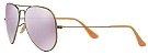 Óculos de Sol Ray-Ban Aviador RB3025 - Roxo Espelhado - Imagem 2