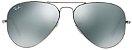 Óculos de Sol Ray-Ban Aviador RB3025 - Prata Espelhado - Imagem 1