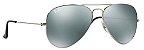 Óculos de Sol Ray-Ban Aviador RB3025 - Prata Espelhado - Imagem 2