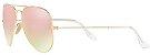 Óculos de Sol Ray-Ban Aviador RB3025 - Rosa Espelhado - Imagem 2