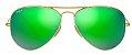 Óculos de Sol Ray-Ban Aviador RB3025 - Verde Espelhado - Imagem 1